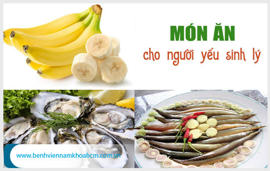 Điều trị yếu sinh lý bằng cách bổ sung thực phẩm giúp tăng cường sinh lý